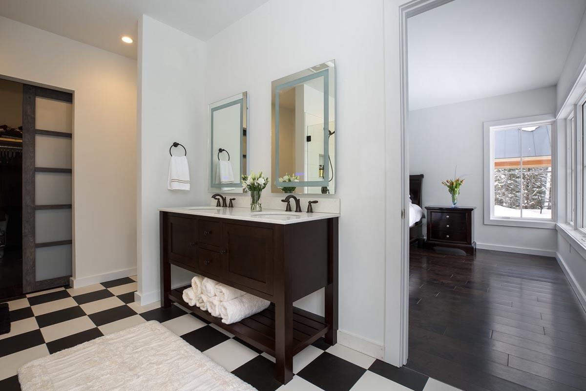 Moose Run Master Bathroom and Bedroom